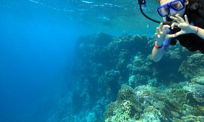 Wall Mural - girl diver
