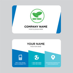 non toxic business card design template, Visiting for your company, Modern Creative and Clean identity Card Vector Illustration