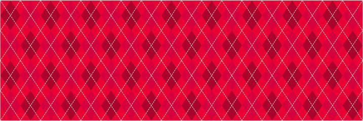 Red Argyle Banner