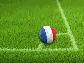 Soccer football with French flag