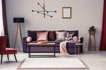 Woman's living room interior