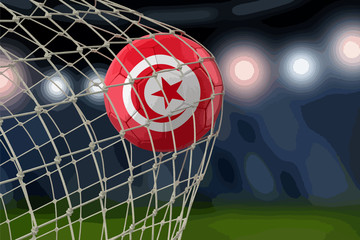 Tunisian soccerball in net