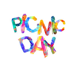 Picnic day. Ttriangular letters