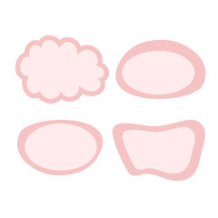set of cute comic speech bubbles icon. Vector image