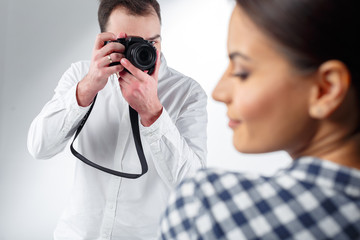 professional photographer and attractive model