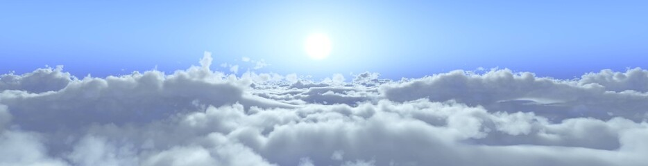 the sun is above the clouds