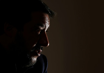 Leader of Italy's far-right League Matteo Salvini attends a news conference at the Foreign Press Club in Rome