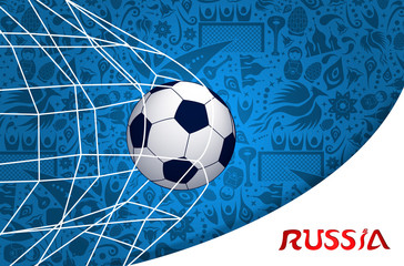 Soccer match russian background design