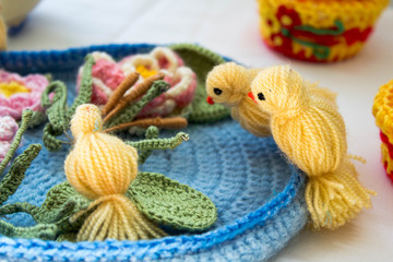 Hand Made Birds Made Of Wool