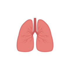 Lungs icon, flat style. Internal organs of the human design element, logo. Anatomy, medicine concept. Healthcare. Isolated on white background