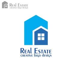 Real estate logo, vector icons.