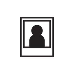 portrait photo, portrait shot filled vector icon