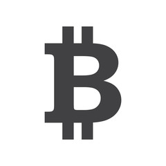 Vector illustration. Bitcoin sign icon. Crypto currency symbol and coin image web mobile applications. Blockchain based secure cryptocurrency.