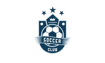 Soccer Football Badge with shield logo designs, Soccer Emblem logo template vector illustration