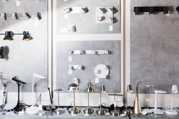 Image of different desk  lamp  and other in the store