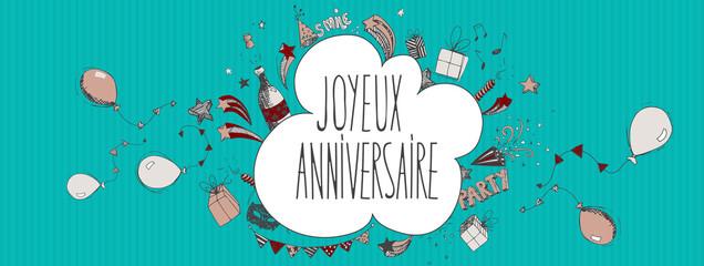 French Happy Birthday background