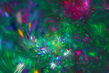 Abstract fractal background. Textured image in multi colors. For your creative design.