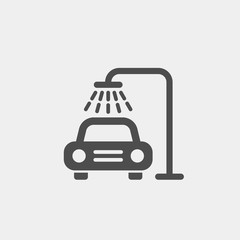 Car wash flat vector icon