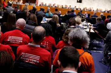 The Senate Judiciary Committee hears testimony about legislative proposals to improve school safety in the wake of the mass shooting at the high school in Parkland, Florida, on Capitol Hill in Washington