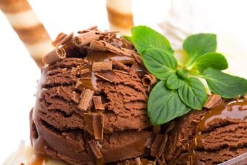 Chocolate Ice Cream Scoops
