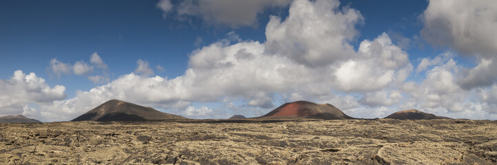 Panoramica del Parco Nazionale Timanfaya a Lanzarote, Isole Canarie