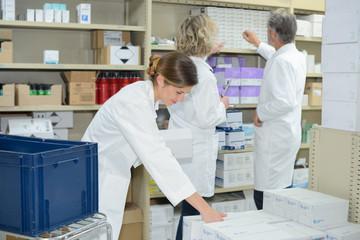 inspecting the pharmaceutical stocks