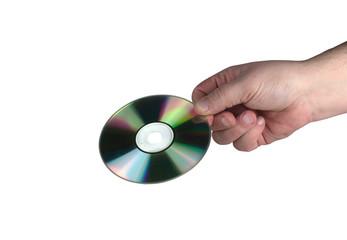 płyta komputerowa cd w dłoni