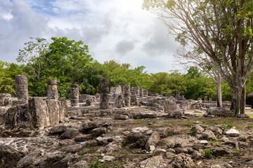 Maya Ruinen in San Gervasio auf Cozumel, Yukatan, Mexiko