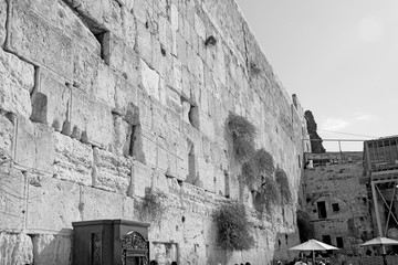 Jerusalem is an old city, a wall weeping