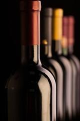 Bottles of Wine in a Row