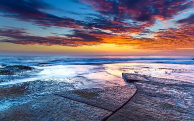 Sunrise Seascape and Rock Platform