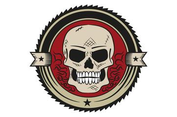 universal emblem, the skull. badge. icon