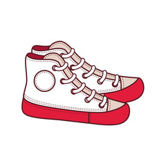 Shoes for a teenager. Vector isolated mockup