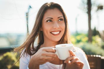 Enjoying In Coffee