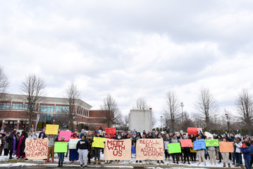 Rally in front of Smith & Wesson world headquarters in Springfield