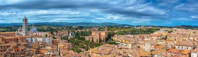 Scenery of Siena, a beautiful medieval town in Tuscany