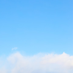 Light blue sky cloud - space for text