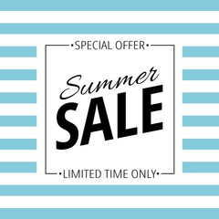 Sale on white and blue background vector