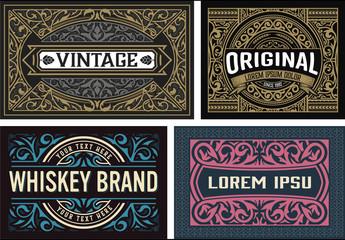 4 Ornamental Vintage Cards