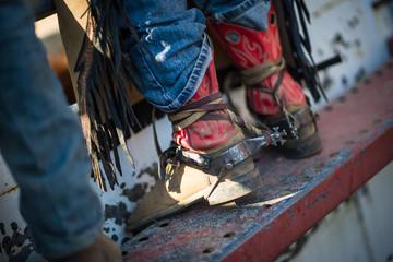 Cowboy boots at a Rodeo