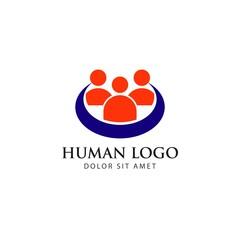 Human Logo Vector Template Design
