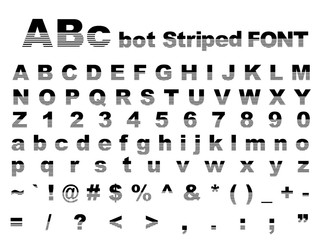 Abc bot Striped font