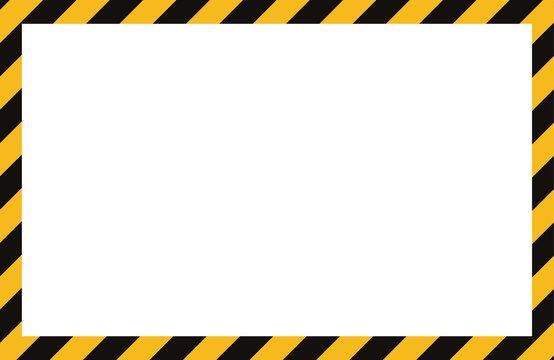 Warning pattern frame