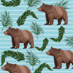 Bears drawing patterns background vector illustration graphic design