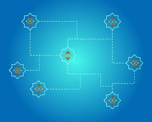 Binance coin blockchain circuit style background