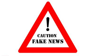 Fake news warning