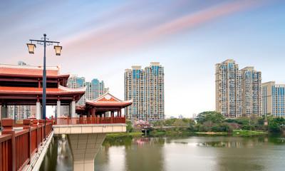 Chinese traditional style bridge