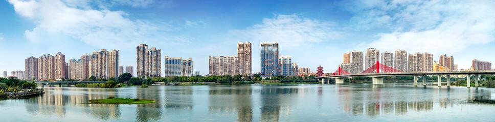 City Skyline and Jiulong River