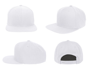 Blank cap 4 view color white on white background