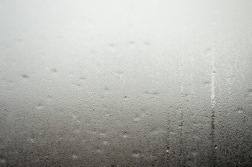 misted-out window with drops
